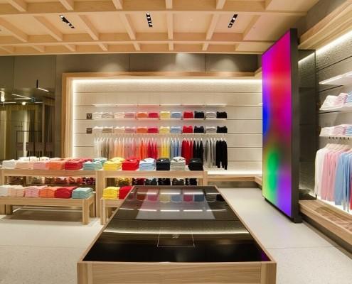 Progetti di illuminazione per negozi stingers illuminotecnica